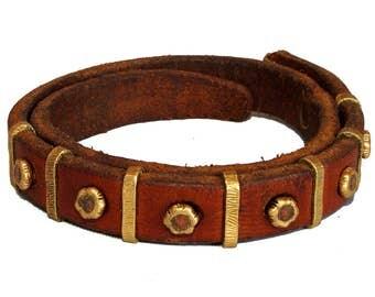 Women's leather bracelet Seven