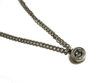 CRYSTAL BULLET NECKLACE (diamond)