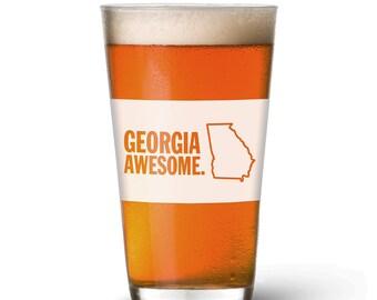 Georgia Awesome Pint Glass