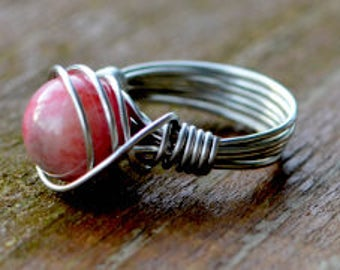 Gemstone Wire Wrapped Ring  ||  Metaphysical Healing Properties