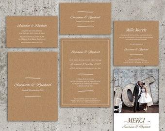 Invitation wedding chart