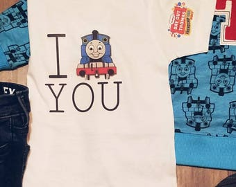 Thomas the train, I Thomas You tshirt