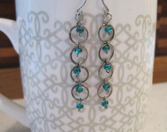 Beads and Hoops Drop Earrings