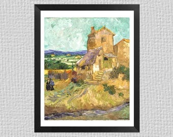 The Old Mill by Vincent Van Gogh as a watercolor