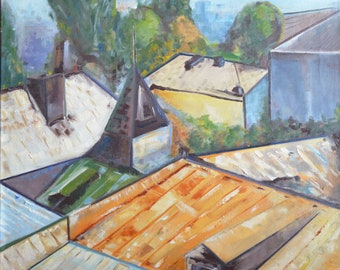 """The roofS Oil & canvas 27,5""""x27,5"""""""