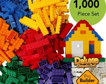1000 Building Bricks, Lego, Legos, Lego Bricks, Building Blocks, Lego bulk, 1000 bricks, Blk Legos, Blocks, Lego Blocks, Mega Bloks