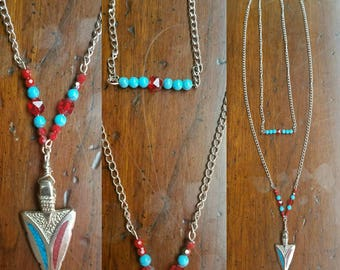 arrowhead goddess necklace