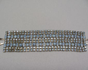 Vintage Blue Rhinestone Bracelet