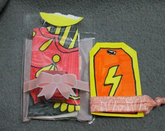 Gift tag, gift set, lightning, party favor