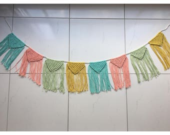 Colourful pastel bunting