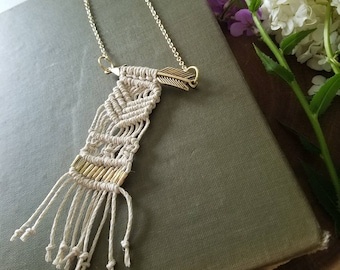 Macrame Jewelry - Macrame Necklace - Macrame Accessories - Boho Jewelry - Bohemian Jewelry - Tassel Necklace - Boho Necklace - Bohemian