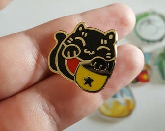 Lucky Black Cat Pin