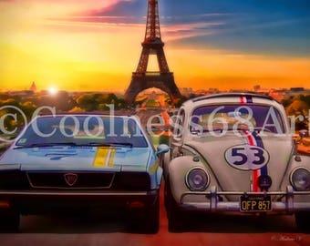 Herbie Goes To Monte Carlo Original Art Print