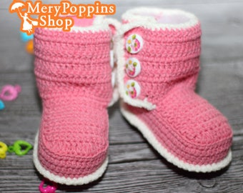 Baby Booties Infant Handmade Shoes 3-6 Months Newborn 3-6 Months Girl