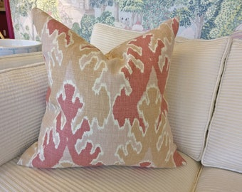 "Designer Kelly Wearstler fabric front & back 22"" square pillow"