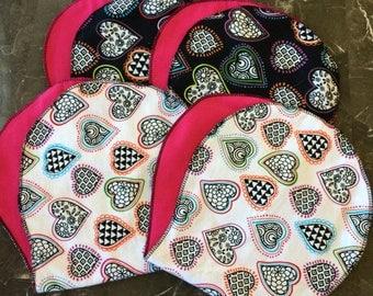 Baby Girl Burp Cloths -set of 4