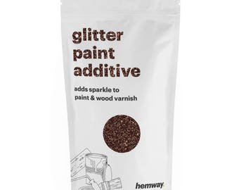 Hemway Glitter Paint Crystals Additive 100g for Emulsion - Bronze