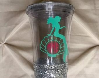 Mermaid Glitter Tumbler Personalized