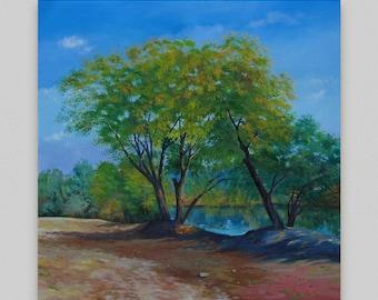 Original oil painting Large original art Landscape oil painting Large original canvas Original landscape canvas Landscape canvas Artwork