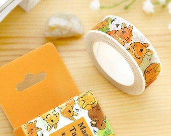 Bunny Washi Tape, Bunny Washi, Easter Washi Tape, Rabbit Washi Tape, Rabbit Washi, Bunny Stationery, Rabbit Stationery, Cute Washi Tape.