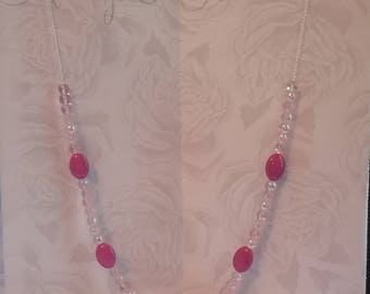 Pretty pink bead necklace
