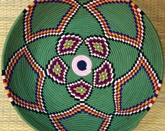 Moroccan Fruit Tray (Green) - Handmade