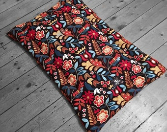 Colour Splash Dog Bed, mat style dog bed, dog crate mat, channeled dog cushion, handmade dog bed