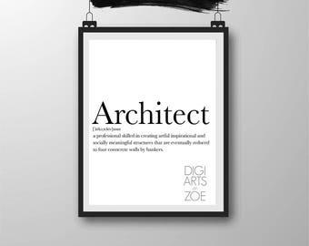 Printable Architect Wall Art