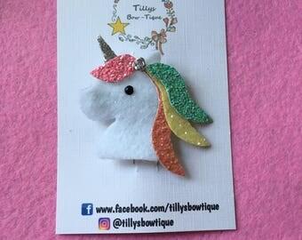 Cute unicorn hair clip!