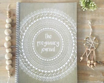 Boho Pregnancy journal keepsake book natural