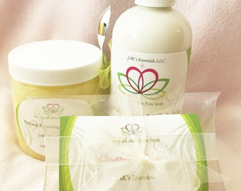 All Natural Facial Cleansing and Moisturizing Set