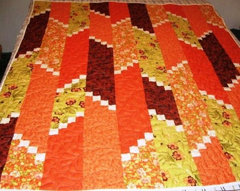 Orange Striped Quilt