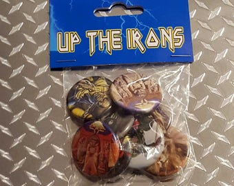 Iron Maiden custom button pack