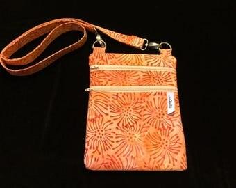 Cross Body Bag - Orange Batik