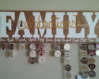 Birthday boards with anniversaries
