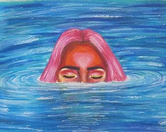Underwater Nymph Art Print