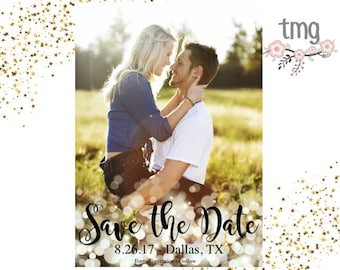 Save the Date, Save the date Card, Wedding Invites, Digital File