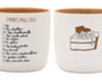 Recipease Extra Large Microwaveable S'mores Mug Cake