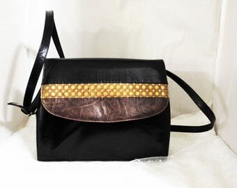 Vintage Margaret Jerrold Leather Shoulder/Cross Body Handbag Purse Made in Spain
