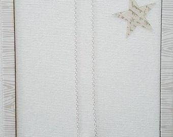 Handmade 925 Sterling Silver Flower Necklace w/ Swarovski Pave