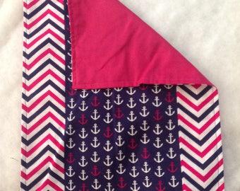 Blue pink burp cloths