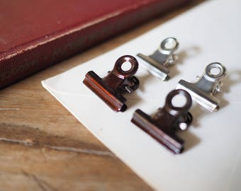 MINI Two Tone Clip _Vintage Metal Binder Clips
