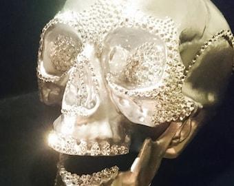 Jewelled life size Skull