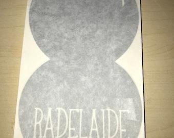 Radelaide Car Decal - Silver - Adelaide Malls Balls