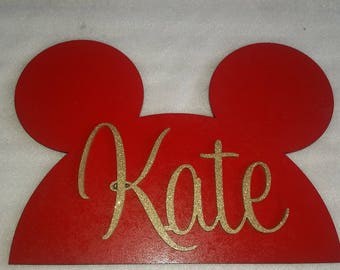 Personalized name plaques.