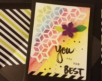 """Hand made """"You Are The Best"""" Card"""