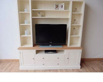 New Solid Pine And Oak 6ft Painted Tv Stand/Unit/Cabinet/welsh Dresser Painted  In Any Farrow And Ball Colour