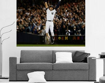Derek Jeter Walk Off Final Game Walk Off Hit Huge 36 x 24 Canvas NY Yankees