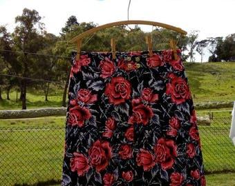 Front box pleat skirt