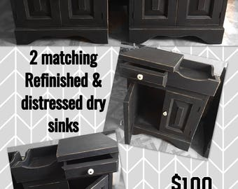 Matching end table atyle dry sinks